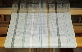 woodsy stripes on loom