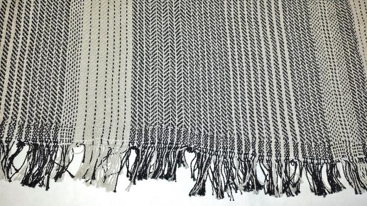 shawls knotted warp edge Jan 2016